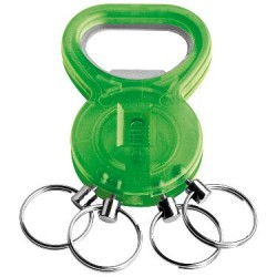 Брелок-открывалка с кольцами зеленый