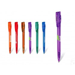 Ручка шариковая KIKI LX пластиковая прозрачная