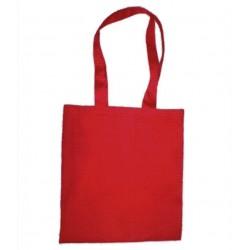 Сумка плоская красная из смесовой ткани
