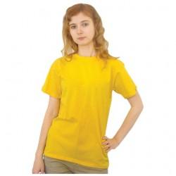 Футболка однотонная желтый