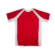 Футболка Волна красная с белым