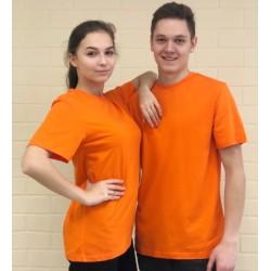 Футболка Лидер однотонная оранжевая