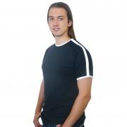Футболка Лайн черная с белыми вставками