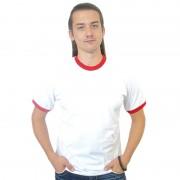 Футболка Рингер белая с красными вставками