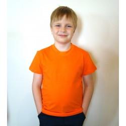 Футболка детская Лидер однотонная оранжевая